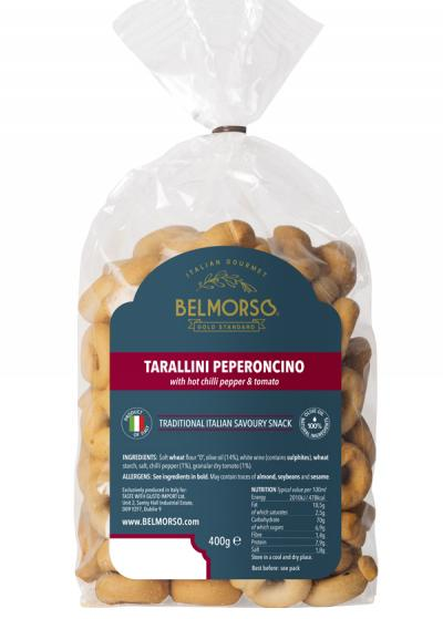Belmorso Tarallini Peperoncino with chilli and tomato